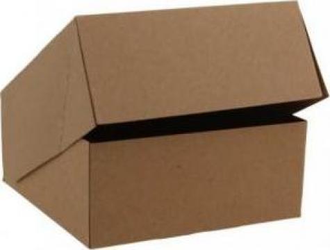 Cutie carton kraft natur prajituri 14x14x6cm,25 buc/set de la Cristian Food Industry Srl.