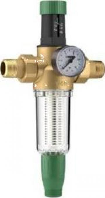 Reductor presiune apa 1 PN16 cu filtru purjare Herz de la Ecomas Energosystem Srl