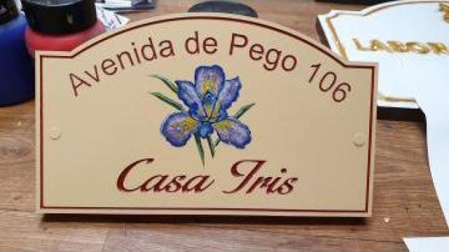 Placa personalizata cu adresa si numarul locuintei de la Rosca Srl