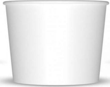 Pahar carton alb inghetata 200cc 50 buc/set de la Cristian Food Industry Srl.