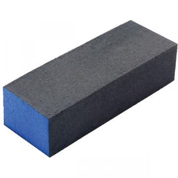 Buffer pentru pilit/lustruit unghii, bloc albastru/negru