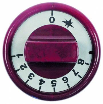 Buton rosu 76mm 0-1-2-3-4-5-6-7-8-9