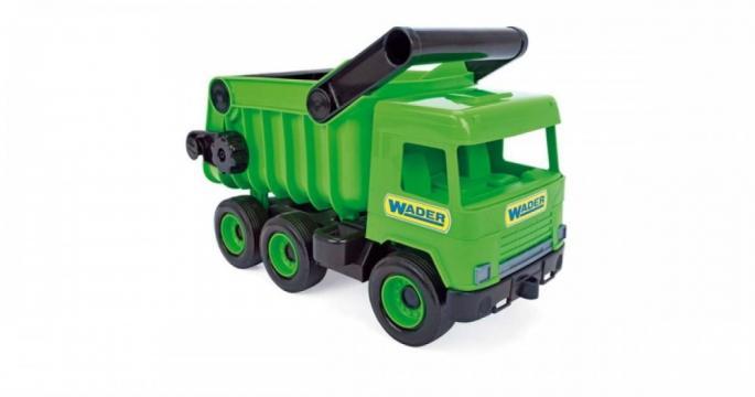 Camion de salubritate Wader 38cm #verde de la Pepita.ro