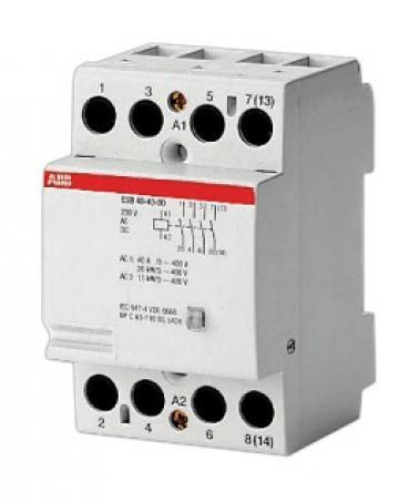 Contactor modular 4NO, 230VAC/VDC, 400 VAC