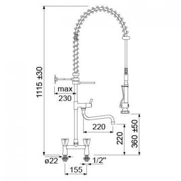 Dus prespalare vase cu baterie intermediara 548913 de la Kalva Solutions Srl