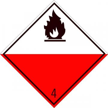 Eticheta ADR suport aluminiu Pericol Transport substante