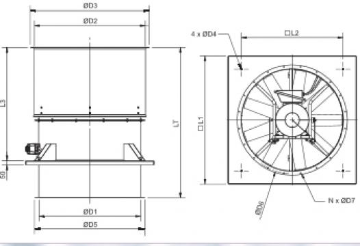 Ventilator HGHT-V/4-1000