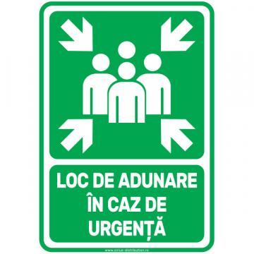 Indicator autocolant Loc de adunare in caz de urgenta