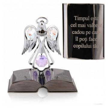 Decoratiune Ingeras cu cristal Swarovski citat motivational
