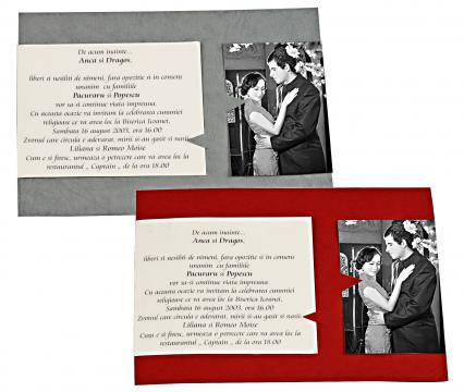 Invitatii de nunta personalizate INVN037 de la Apia Prest Srl