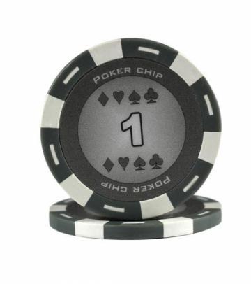 Jeton Poker Chip 11.5g - culoare gri - inscriptionat (1) de la Chess Events Srl