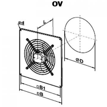 Ventilator axial OV 4D 350 de la Ventdepot Srl