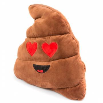 Perna decorativa Rahat indragostit Emoji, maro XXL 50 cm de la Mobilab Creations Srl