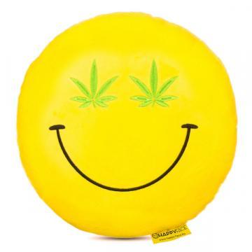 Perna decorativa Emoji Cannabis Happy Face de la Mobilab Creations Srl
