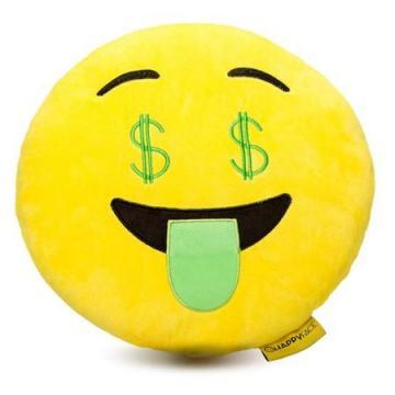 Perna decorativa Emoji dolar Happy Face de la Mobilab Creations Srl