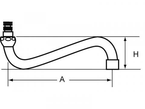 Pipa intermediara dus prespalare vase