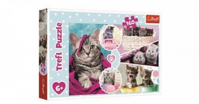 Puzzle clasic copii Pisici dragalase 160 piese de la Pepita.ro