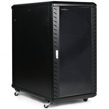 Rack cabinet de podea 18U D:600x600x988 mm, 80 kg, negru