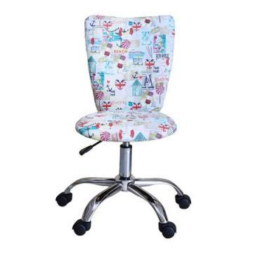 Scaun birou pentru copii Sealine, stofa colorata cu motive de la Sembazuru Art Srl