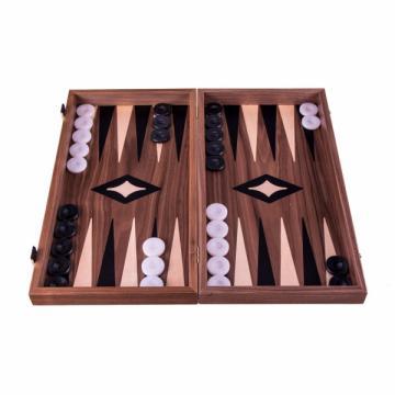 Set joc table/backgammon cu tabla de sah la exterior - lemn de la Chess Events Srl