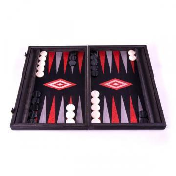 Set joc table backgammon stejar negru cu linii argento de la Chess Events Srl