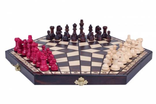 Set sah pentru 3 jucatori (mediu) de la Chess Events Srl