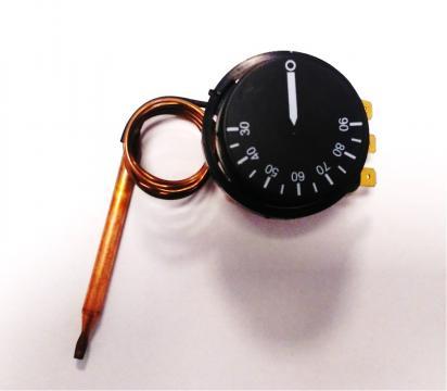 Termostat reglabil 30-90*C, 1NO, bulb cupru 6mmx80mm