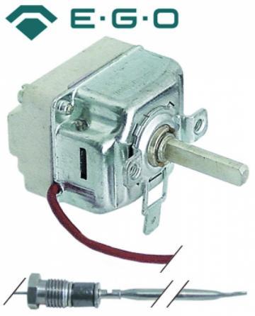 Termostat reglabil 50-255*C, 1NO, 16A, bulb 3mm x 219mm