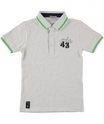 Tricou Polo, Boy Figo, alb, bumbac, baieti de la A&P Collections Online Srl-d