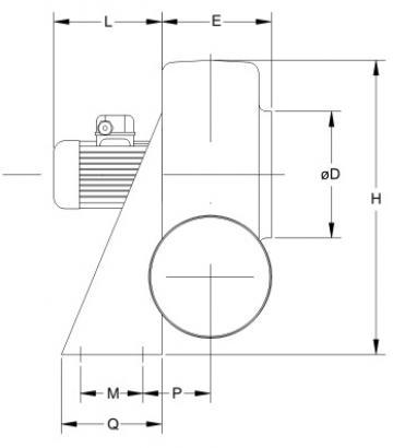 Ventilator centrifugal mediu coroziv MBP 31 T6 1/4