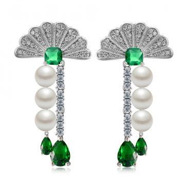 Cercei cu cristale si perle Empress