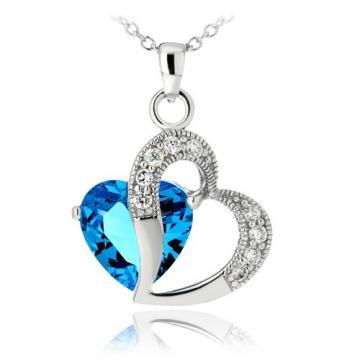 Colier din argint Blue Diamond In Love de la Luxury Concepts Srl