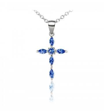 Colier din argint Blue Faith