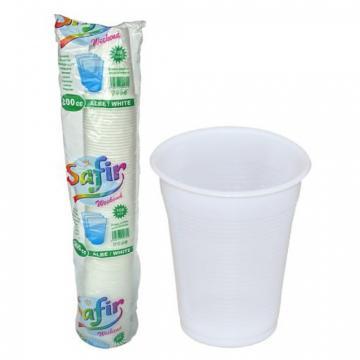Pahare plastic 200 cc, 100 buc