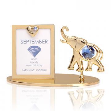 Rama foto Piatra norocoasa Septembrie cu cristale Swarovski de la Luxury Concepts Srl