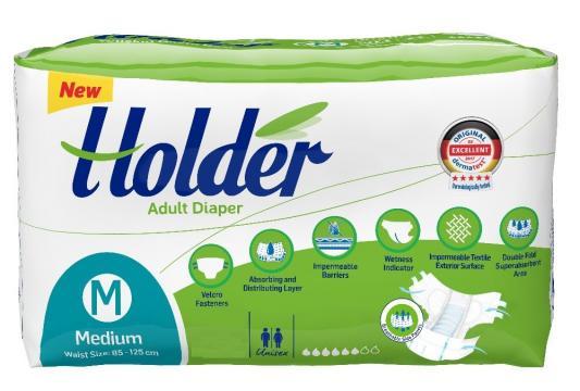 Scutece adulti Holder, marimea M-Medium, 120 buc/set