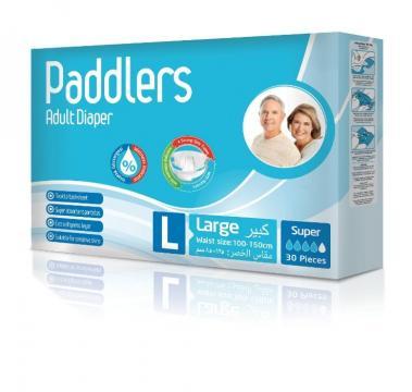 Scutece adulti Paddlers, Marimea L - Large, 60 buc/set de la Europe One Dream Trend Srl
