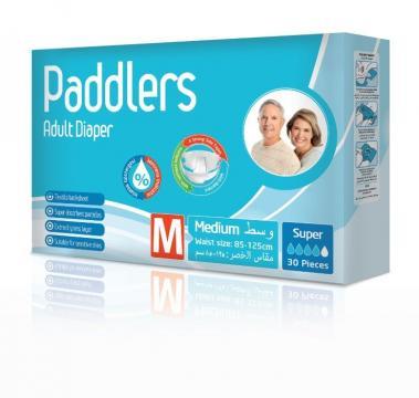 Scutece adulti Paddlers, Marimea M - Medium, 60 buc/set de la Europe One Dream Trend Srl