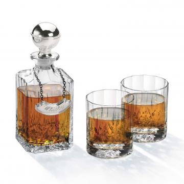Sticla de whisky si pahare made by Chinelli Italy de la Luxury Concepts Srl