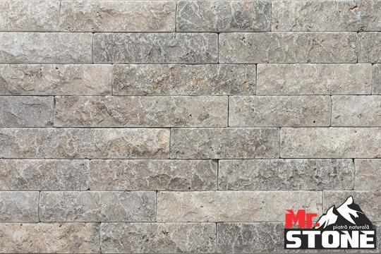 Travertin Silver split face tumbled 5cm x LL de la Antique Stone Srl