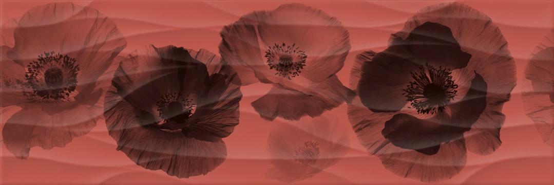 Decor faianta 20x60 Waves rosu de la Olint Com Srl