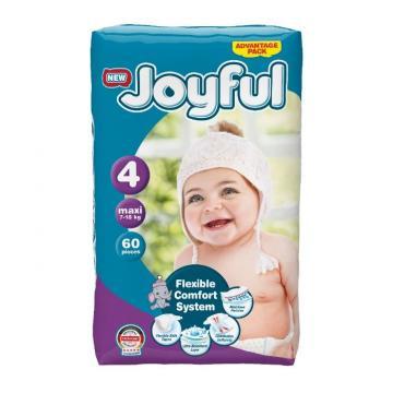 Scutece copii Joyful, 60 buc/set, marime 4, Mini, 7-18kg de la Europe One Dream Trend Srl