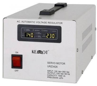 Stabilizator tensiune Servomotor 1000VA Kemot alb de la Axa Industries Srl