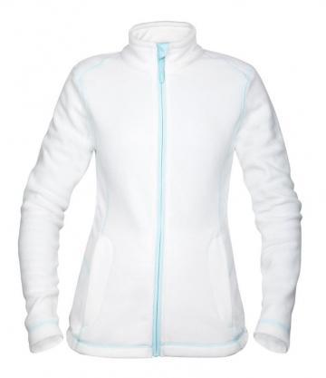 Jacheta fleece Yvonne pentru femei alb - Ardon