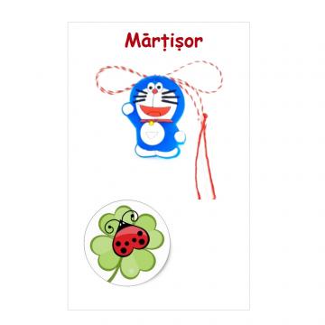 Martisor Doraemon pe cartonas (APC20-AT08) de la Eos Srl (www.martisoare-shop.ro)