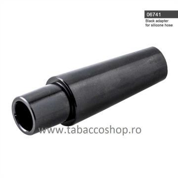 Adaptor negru pentru furtun silicon pentru narghilea