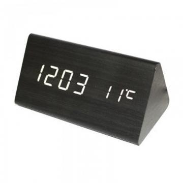 Ceas digital de birou aspect lemn de la Preturi Rezonabile
