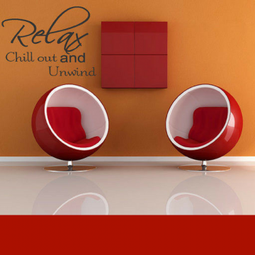 Autocolant perete Deco stick Relax and Chill out