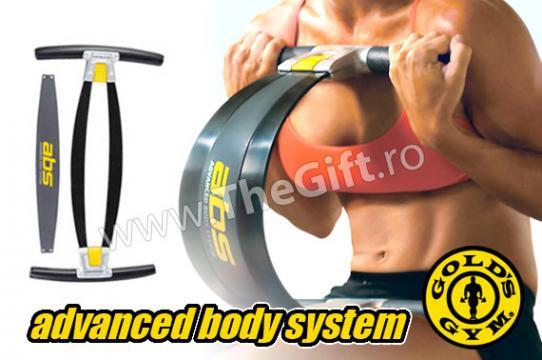Aparat pentru abdomen, coapse si brate Gold's Gym ABS
