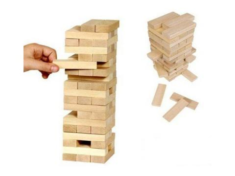 Joc de societate din lemn Jenga de la Preturi Rezonabile